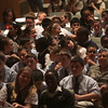 Students form the three Cathollic schools in Lynn at the Catholic Schools partnership assembly in the Lynn City Hall auditorium today. Photo by Owen O'Rourke