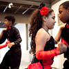 From left, Jeneze Romero, 9, Junior Perez, 13, Orlanny, Medrano, 8, and Jeremy Reyes, 10, perform with the Cultura Latina Dance Academy at the Lynn Museum on Tuesday, June 10. Item Photo / Angela Owens.