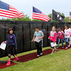 Third grade students from the Beachmont Veterans Memorial School in Revere visitied the Wall That Heals today located at the Bennington VFW Post 6712 in Revere today. The Wall will be on display there through Sunday. Photo by Owen O'Rourke