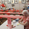 Shirley Bogdan is in charge of tickets for the wonderful strawberry shortcake.