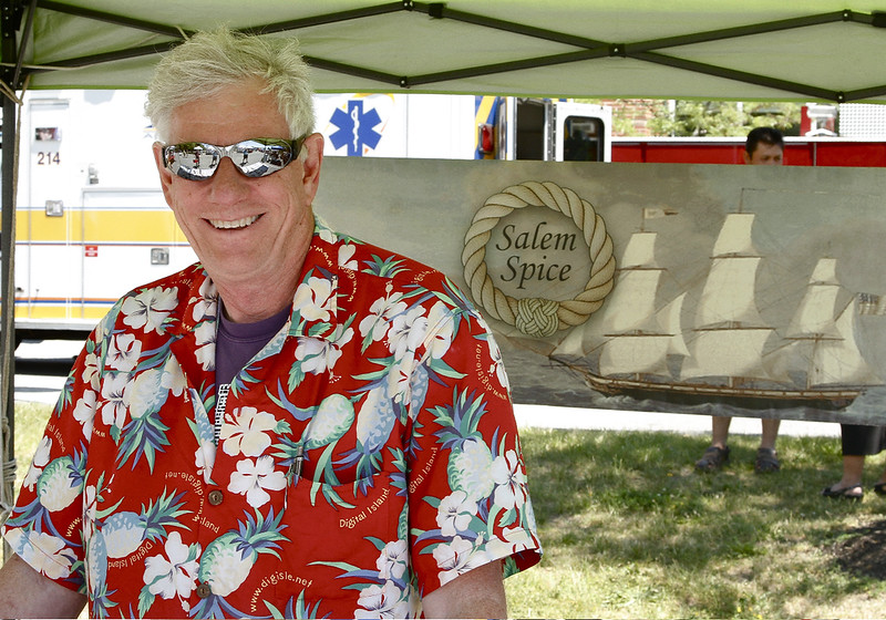 David Bowie from Salem Spice has the most colorful shirt of the day.