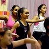 6-16-16. Lynn.Company B Dance out of Betty Card's Studio B at St. Mary's Church Hall. Rehearsal for Saturday's performance at Lynn City Hall at 5:00pm. Aniya Wilhelmsen, Lynn, with other dancers practicing a routine. This is the last rehearsal before Saturday.