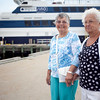 Alice St. Pierre and Sophia Grasso pose for a photo after their cruise on the Aquasino casino boat on Wednesday, July 10. Item Photo / Angela Owens.