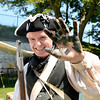Marblehead. Fort Sewall. <br /> Seamus Daly, Marblehead, of the Glover Regiment, shows his hand covered with gun powder as he prepares for battle with the Red Coats at Seaside Park.