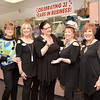 Swampscott. Infinity, a Fashion Boutique, celebrating 33rd anniversay.<br /> Owner Pauline Spirito on the lft with her staff.  Staff lft to rt: Lorin Madow, Swampscott, Marie Clarke, Lynn, Beverly Edwards, Marblehead, Marcia Richmond, Swampscott.