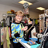 Swampscott. Infinity, a Fashion Boutique, celebrating 33rd anniversay.<br /> Owner Pauline Spirito.