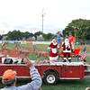 Lynn, Fraser Field.  Crowds respond to John's Oil Santa Float.