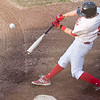 North Shore's Kurtis White (9) swings during their game against Kingston at Breed Middle School on Monday, August 11. Item Photo / Angela Owens.
