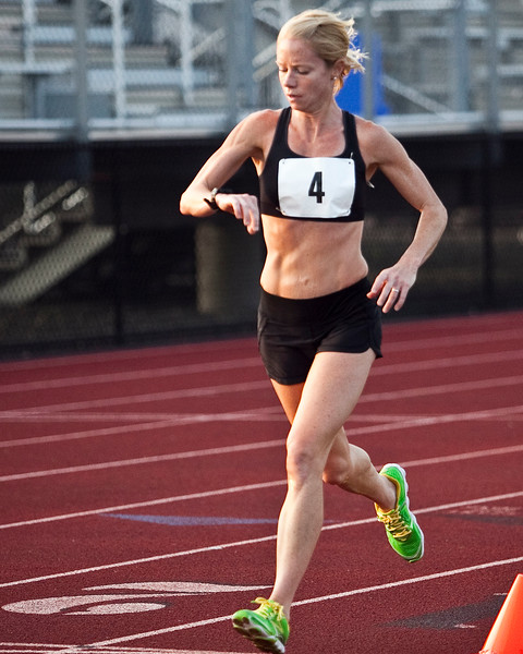 Layce Alves competes in the women's one hour run at Manning Field on Monday, August 11. Item Photo / Angela Owens.