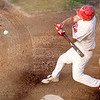 North Shore's Chris Carroll (7) swings during their game against Kingston at Breed Middle School on Monday, August 11. Item Photo / Angela Owens.