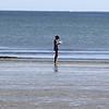 Karen Gibson on King's Beach in Lynn. Photo by OWen O'Rourke