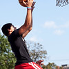 Liocar Terrero shoots during Part of the Solution's Summer Slam basketball tournament at the Warren Street Playground on Thursday, August 16. Item Photo / Angela Owens.