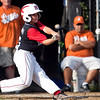 Marblehead's Steve Pappas (6) swings during their game against Lynn in the Gallant Tournament at O'Grady Field in Salem on Thursday, August 16. Item Photo / Angela Owens.