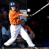 Lynn's Liam Johnston (4) swings during their game against Marblehead in the Gallant Tournament at O'Grady Field in Salem on Thursday, August 16. Item Photo / Angela Owens.