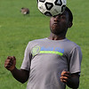 Karegeya Niaibu during soccer practice at Lynn Classical High School on Sadturday. Photo by Owen O'Rourke