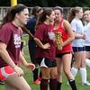 Lynn English High School girl's soccer team practicing on Saturday. Photo by Owen O'Rourke