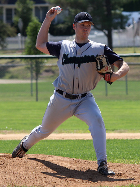 Brian Marshall was the starting pitcher in Saturday's game against Kingston Night Owls in Danvers. Photo by owen O'Rourke