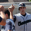 Mark Shorey after hitting his second homerun in Saturday's game. Photo by Owen O'Rourke