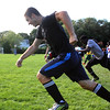 Strati Saranteas doing drills during Lynn Classical High School soccer practice on Saturday. Photo by Owen O'Rourke