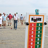 8/25/12  Revere,  Beach<br /> Bocce Tournament. Games begin.  Frank Haney tosses out the ball as Rita Sorrento and Carol Haney look on.  All Revere.