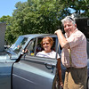 Marblehead, National Grand Bank parking lot.  Annual car show.<br /> Paul and Deborah Sudenfield, Marblehead, with their 1964 Silver Cloud lll Rolls Royce.