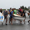 The start of the grand pram race on Short Beach in Nahant on Saturday. Photo by Owen O'Rourke