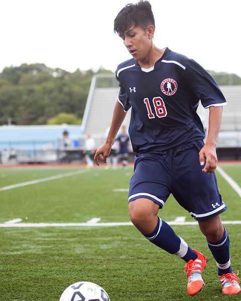 Revere's Sebastian Cuervo (18) takes the ball down the field during their game against Classical at Manning Field on Tuesday, September 9. Item Photo / Angela Owens.
