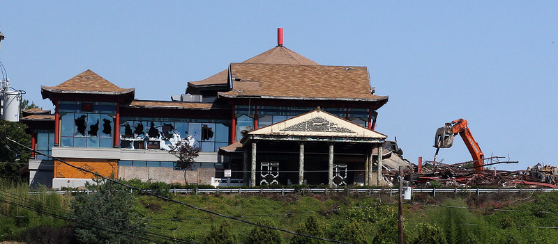The Jin Asian Cuisine in Saugus is being raised. Photo by Owen O'Rourke