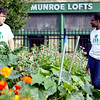Tommy O'Connor, 15, and Adesuwa Usuanlele, 16, walk through the Food Project's Munroe Street garden as they talk about their experience with the Summer Youth Program, on Friday, September 21. O'Connor and Usuanlele both continue to work for the Food Project through their Academic Year Program. Item Photo / Angela Owens.