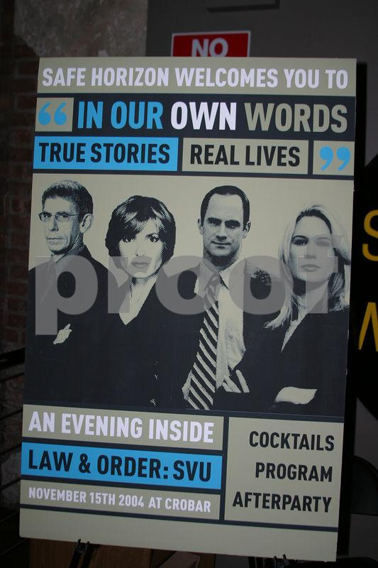 "SAFE HORIZON'S FALL FUNDRAISER: ""In our own words. True Stories. Real Lives."" An evening inside Law & Order SVU"