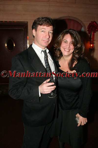 NEW YORK – DECEMBER 7: Braden Keil with Jennifer Gould Keil attend Christmas Party at Doubles Hosted by Gillian & Sylvester Miniter on Wednesday December 7, 2005 at Doubles Club in the Sherry Netherland Hotel, 783 Fifth Avenue, New York City, New York (Photos by Christopher London ©2005 ManhattanSociety.com)