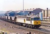 Passing through Gateshead with empty coal wagons on Tuesday 04-07-1989 was 56 129.