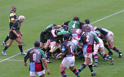 Northampton Saints vs NEC Harlequins, Zurich Premiership, Franklin's Gardens, March 25, 2005