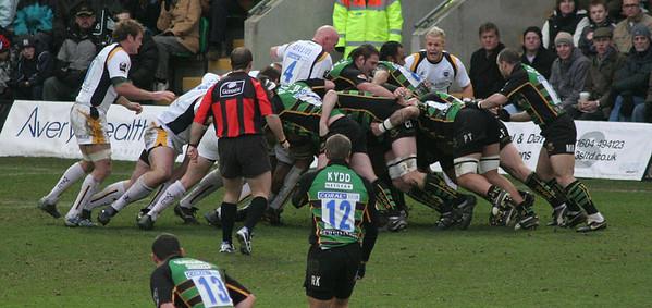 Northampton Saints vs Worcester Warriors, Guinness Premiership, Franklin's Gardens, 1 January 2007