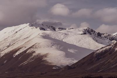 Mount Edward snow capped near Lake Tekapo.