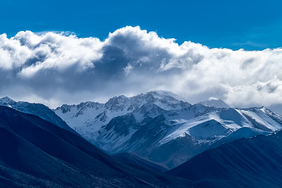 Mountains in the Southern Alps west of Lake Pukaki.