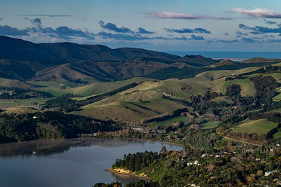 Land use on Banks Peninsula from the Porthills.
