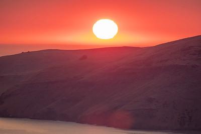 Sunrise over Porthills.  Image for Manaaki Whenua by Bradley White