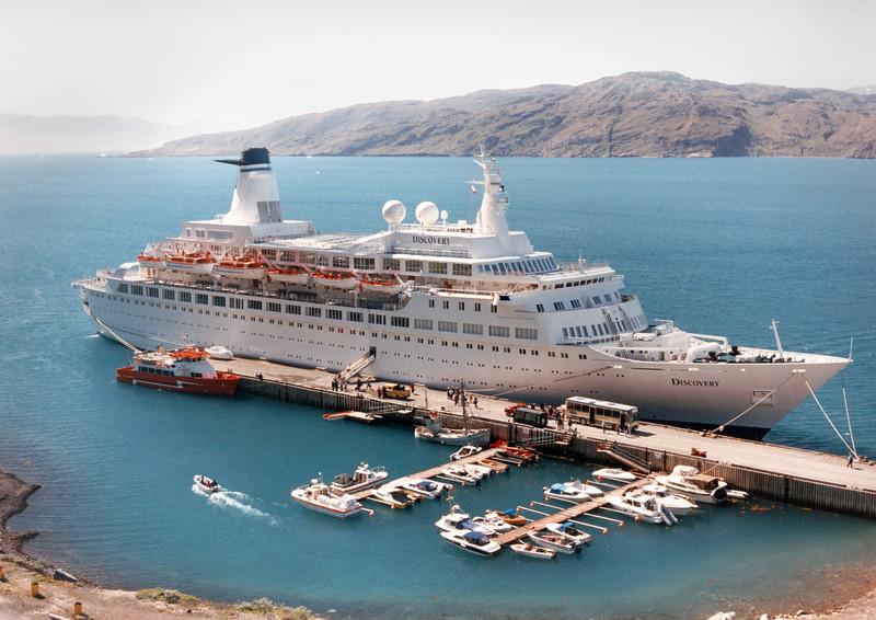 MV Discovery, Narsarsuaq, Greenland.