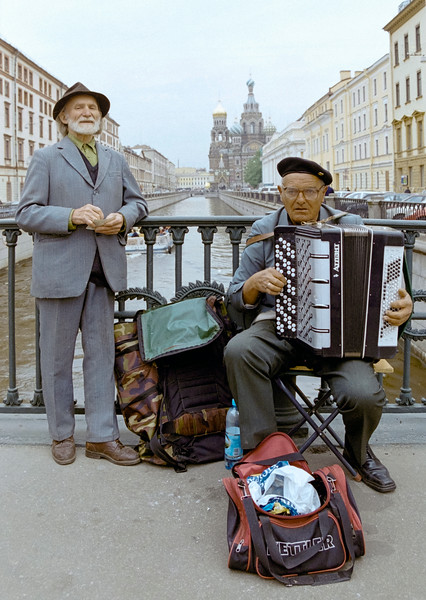 Musicians at Saint Petersburg, Russia