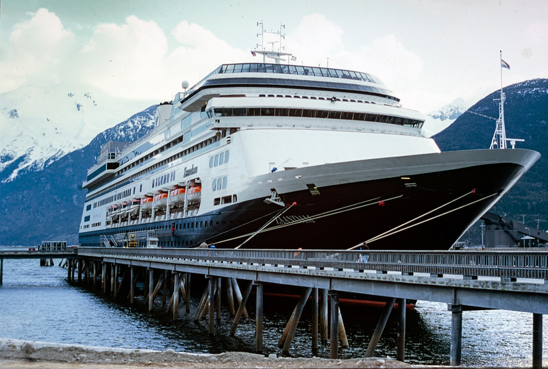 Holland America ship Zaandam at Ketchican, Alaska