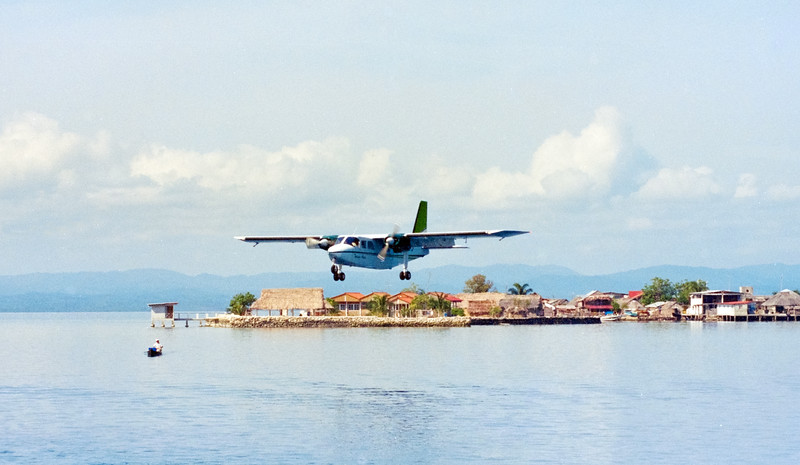 LIGHT AIRCRAFT LANDING AT SAN BLAS, PANAMA