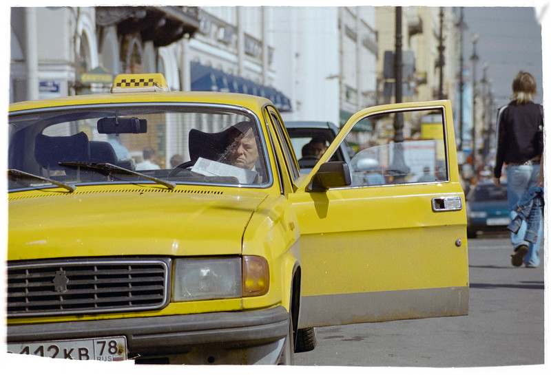 Taxi Driver at Saint Petersburg, Russia