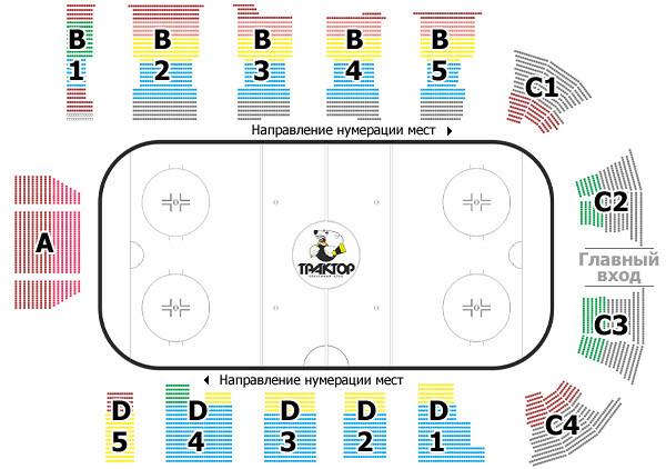 План ледовой арены