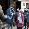 NEW YORK - January 27, 2021: for NEWS. Mayoral Candidate Andrew Yang and City Council Candidate Gigi Li at Al Smith Houses amid the COVID-19 pandemic. (Credit photo by: Taidgh Barron)