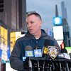 NEW YORK - May 8, 2021: for NEWS. NYPD Police Commissioner Dermot Shea at the scene of a shooting in Times Square where three bystanders, including a 4 year-old girl, were shot. (Credit Photo by: Taidgh Barron)