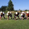 Offensive Line - Left to Right - Dillon Potter, Alex Silva, Donnie Farrel, Brandon Trimble, Danny Jones