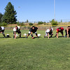 Offensive Line - Left to right, Dillon Potter, Alex Silva, Donny Farrell, Brandon Trimble, Danny Jones Austin Lewis