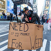 NEW YORK - November 7, 2020: for NEWS. Anti- Rudy Giuliani protesters in Union Square celebrate Democratic candidate Joe Biden being elected President of the United States after a long count in the 2020 Presidential Election. (Credit photo by: Taidgh Barron)
