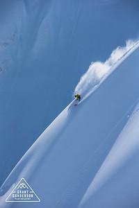 Mattias Evangelista skiing at Mt. Baker